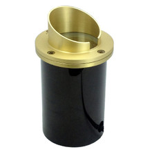 Raw Brass Angle Shield In Ground Light NLWE-0085-BR