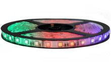 RGB LED Tape Light - 12V & 16Ft - High Output SMD5050-60W - Waterproof