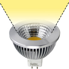 12V 6W CoB Warm White LED MR16 Wide Flood Light Bulb