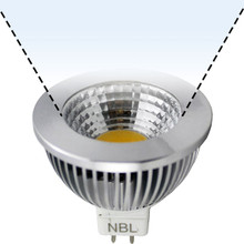 12V 6W CoB Cool White LED MR16 Wide Flood Light Bulb