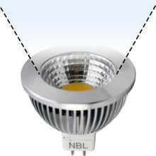 12V 6W CoB Cool White LED MR16 Wide Flood Light Bulb