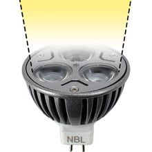 12V 3W Warm White LED MR16 Spot Light Bulb