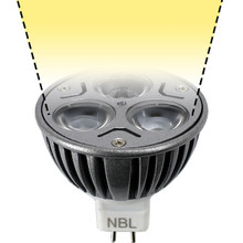 12V 3W Warm White LED MR16 Wide Spot Light Bulb