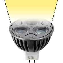 12V 3W Warm White LED MR16 Wide Spot Light Bulb