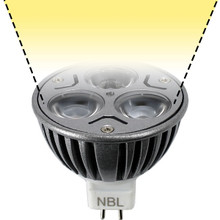 12V 3W Warm White LED MR16 Flood Light Bulb