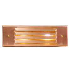 LED Raw Copper Step Light PRLEDCLVL (shown with cool white bulb)