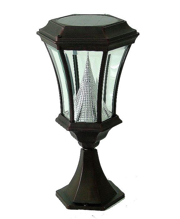 victorian post mount solar light pwgs94p bk by gama sonic. Black Bedroom Furniture Sets. Home Design Ideas