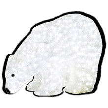 LED Baby Bear Polar Bear Acrylic Sculpture (shown with background for definition)