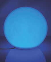 12V Color Changing RGB Frosted Light Sphere (shown in blue)