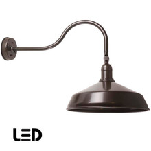 English Bronze Metal Gooseneck Barn Light - LED Barn Lighting - ADLXSV925