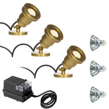 3 Mini Brass Spotlight Underwater Kit PUK707