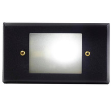 Cast Brass Open Face Recessed Flush Mount Stair Light PRGB-HS-DV (shown in black with cool white bulb)