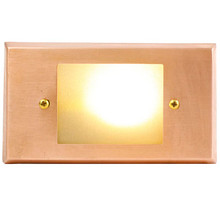Brass & Copper Open Face Recessed Step Light PRGC-HS-DV (shown with warm white bulb)