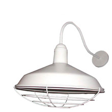 Outdoor White Gooseneck Light PWSV936