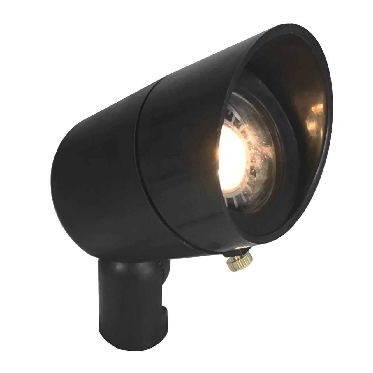 Landscape Lighting Spotlight: 12V LED Raw Composite Directional Landscape Spotlight