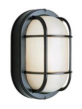 1 Light Outdoor Bulkhead 41015BK Black