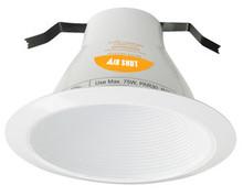 "120v 6"" AirShut Baffle Recessed Lighting Trim White"