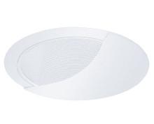 "120v 6"" Wall Wash Stepped Baffle Recessed Lighting Trim White/White"