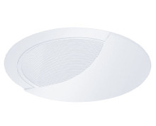 "120v 6"" Wall Wash Stepped Baffle Recessed Lighting Trim White/White"