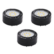 LED 3 Puck Under Cabinet Light Kit CPK-LED-120 in black