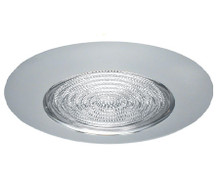 "120v 6"" Shower Trim with Fresnel  Lens Chrome"