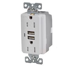 Tamper Resistant Duplex Receptacle with USB Ports