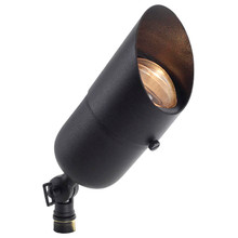 Brass Spotlight with Angle Shield (shown in black)