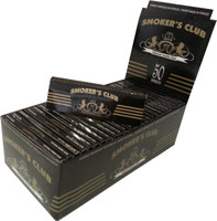 SMOKER'S CLUB 1 1/4 (76mm. X 44mm.) Paper Quality: 13.5 gsm  (Ultra Transparent Paper) 50 Leaves per Booklet 50 Booklets per Box  - 1 1/4 SIZE  (THIS PRICE IS FOR A COMPLETE BOX OF 50 BOOKLETS