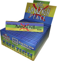 AMAZIGH SLIM (109mm. X 44mm.) Paper Quality: 13.5 gsm (Ultra Transparent Paper) 32 Leaves per Booklet 50 Booklets per Box - SLIM