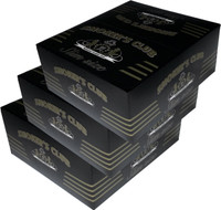 SMOKER'S CLUB SLIM (109mm. X 44mm.) Paper Quality: 13.5 gsm (Ultra Transparent Paper) 32 Leaves per Booklet 50 Booklets per Box (THIS PRICE IS FOR 3 BOXES = 150 BOOKLETS )