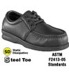 Steel Toe ESD Shoe Pucker Moc Oxford  - Women&#039;s
