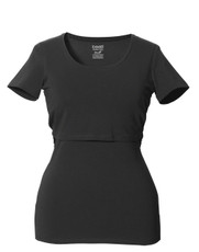 Boob Nursing Top Short Sleeve black