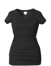 Boob Rushed Top short sleeve black