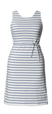 Boob Nursing/Maternity Dress Simone sleeveless wht/steel