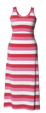 Boob Maternity/Nursing Long Dress Cameron multi stripe pink