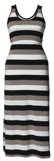 Boob Maternity/Nursing Long Dress Cameron multi stripe black
