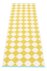 Pappelina Marre Rug Lime/Vanilla with Turquoise Stripe
