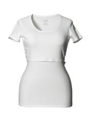Boob Nursing Top Short Sleeve White