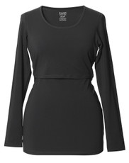 Boob Long Sleeve Maternity Top / Nursing Top - Black