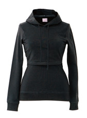 Boob B-Warmer Maternity/Nursing Hoodie - Black