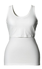 Boob Maternity / Nursing Singlet - White