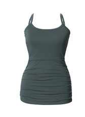Boob Maternity / Nursing Singlet Ruched - Turquoise Haze