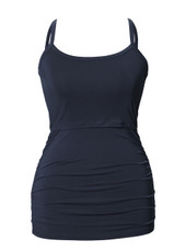 Boob Maternity / Nursing Singlet Ruched - Ink Blue