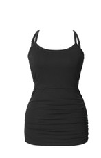 Boob Maternity / Nursing Singlet Ruched - Black