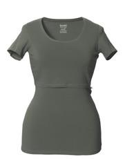 Boob Nursing Top Short Sleeve Khaki