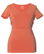 Boob Maternity/Nursing Top V-Neck - MELON