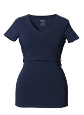 Boob Maternity/Nursing Top V-Neck - Navy