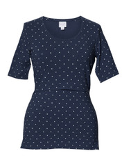 Boob Maternity/Nursing Top Dot - Navy