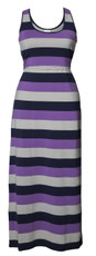 Boob Maternity/Nursing Long Dress Cameron multi stripe lilac
