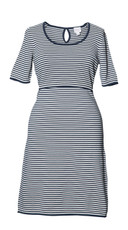 Boob Knitted Maternity/Nursing Dress - Striped Blue
